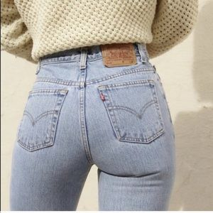 LEVI'S VINTAGE 550 High waisted Orange tag jeans